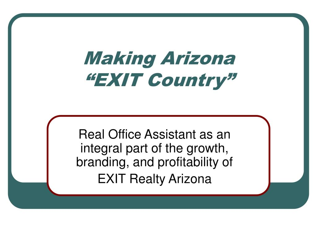 making arizona exit country l.