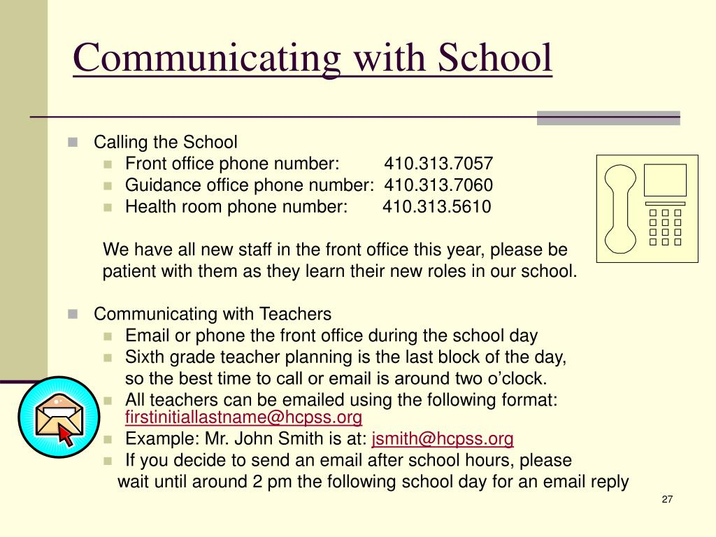 Communicating with School