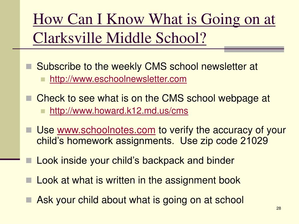 How Can I Know What is Going on at Clarksville Middle School?