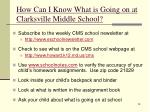 how can i know what is going on at clarksville middle school