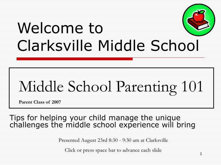 Welcome to clarksville middle school