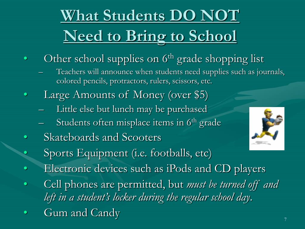 What Students DO NOT