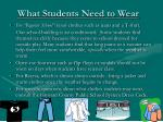 what students need to wear