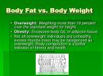 body fat vs body weight