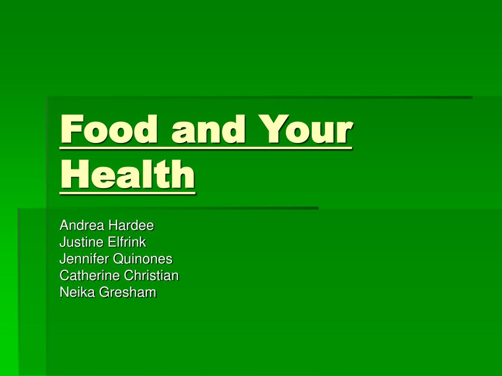 food and your health l.