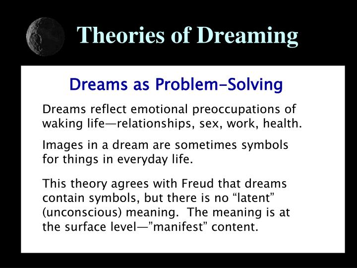 an analysis of the characteristics of dreaming and the theories of dreaming Essays - largest database of quality sample essays and research papers on dream theories.