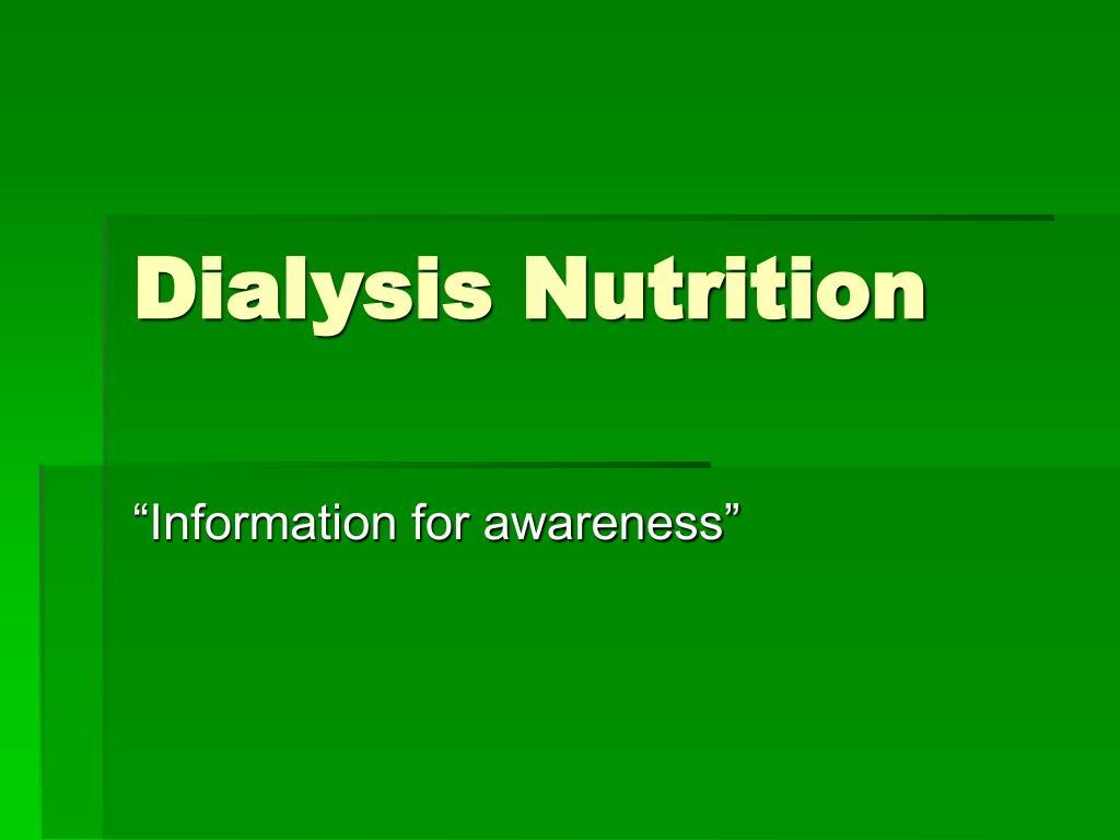 dialysis nutrition l.