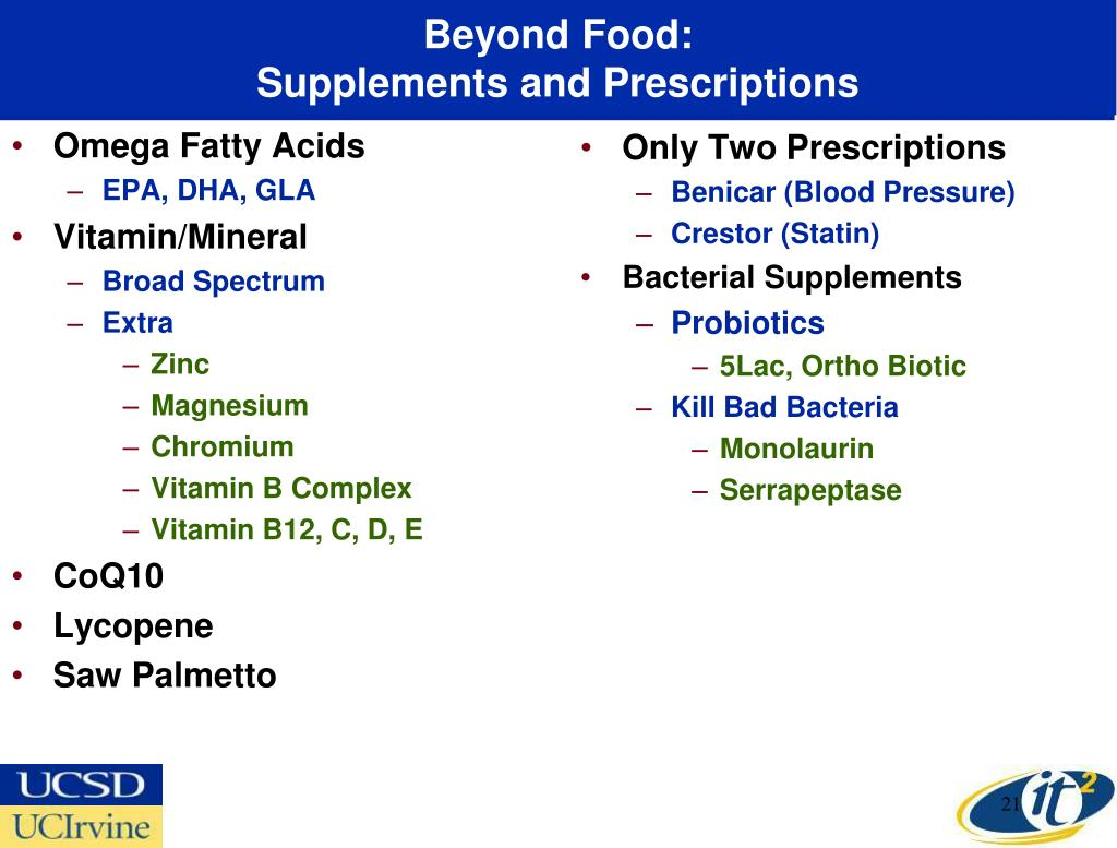 Beyond Food: