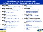 blood tests i do quarterly to annually in addition to hscrp lipids minerals omegas