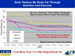 goal reduce my body fat through nutrition and exercise