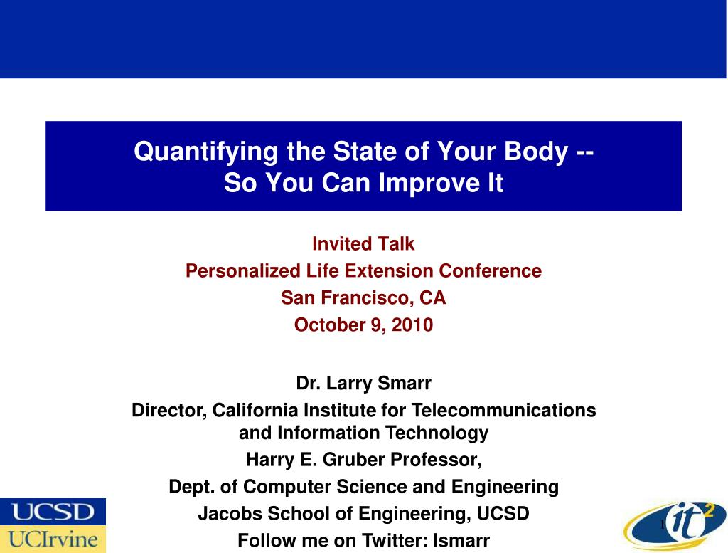 quantifying the state of your body so you can improve it l.