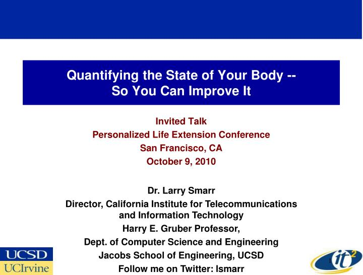 Quantifying the state of your body so you can improve it