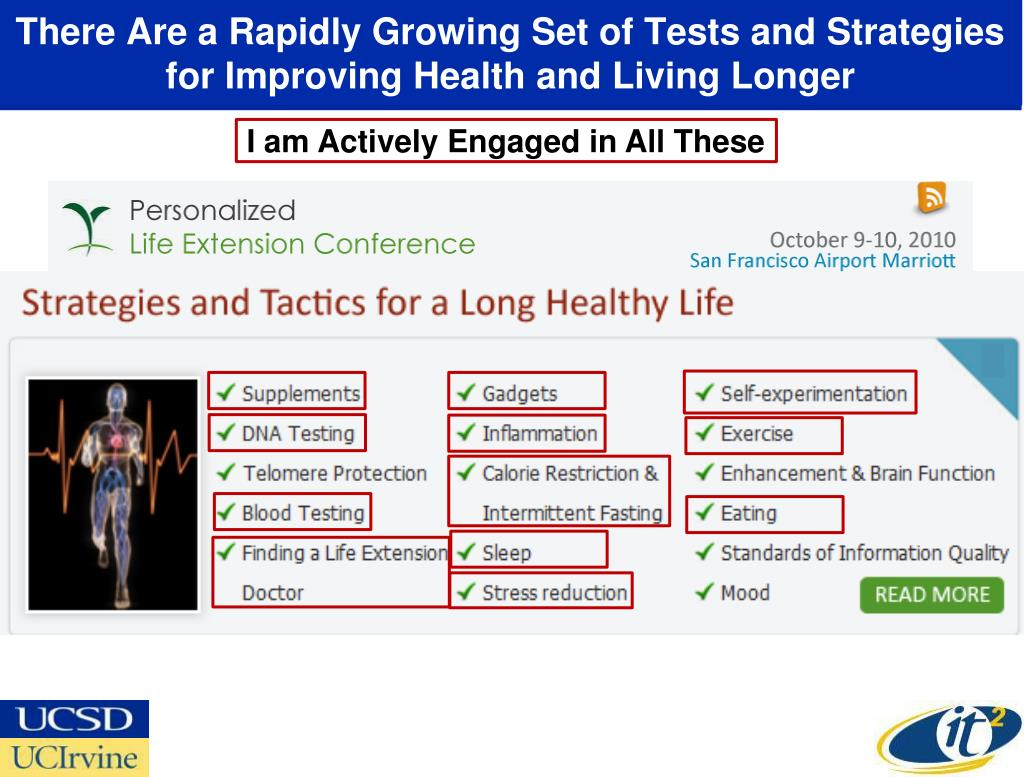 There Are a Rapidly Growing Set of Tests and Strategies for Improving Health and Living Longer