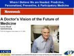 where i believe we are headed predictive personalized preventive participatory medicine