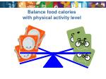 balance food calories with physical activity level