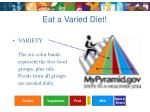 eat a varied diet