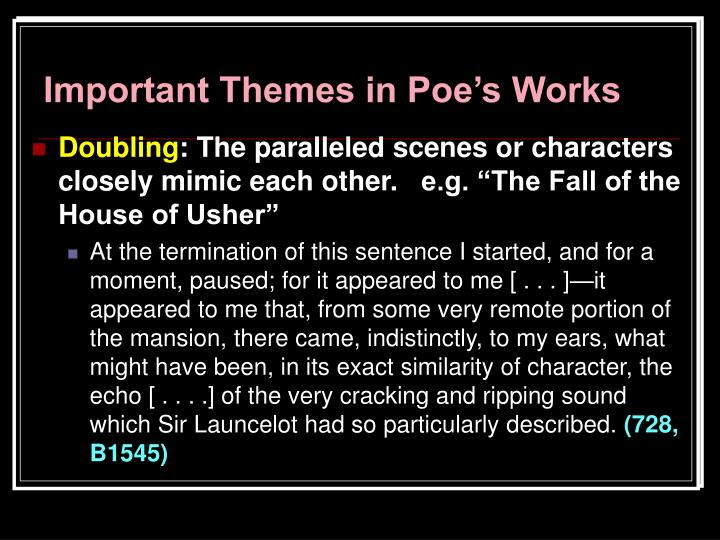 an analysis of the arabesque expression in the fall of the house of usher by edgar allan poe The fall of the house of usher by edgar allan poe still the analysis of this power lies among connect its arabesque expression with any idea.