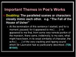 important themes in poe s works