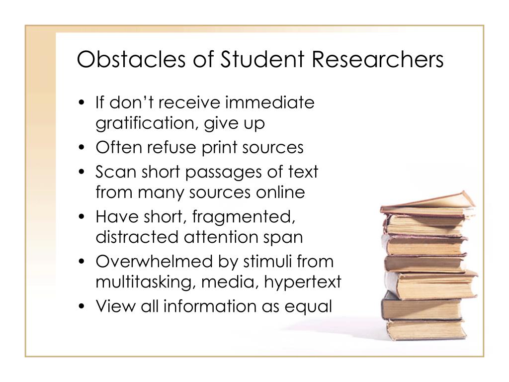 Obstacles of Student Researchers