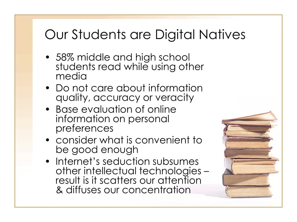 Our Students are Digital Natives