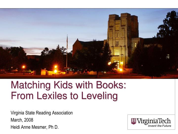 matching kids with books from lexiles to leveling n.