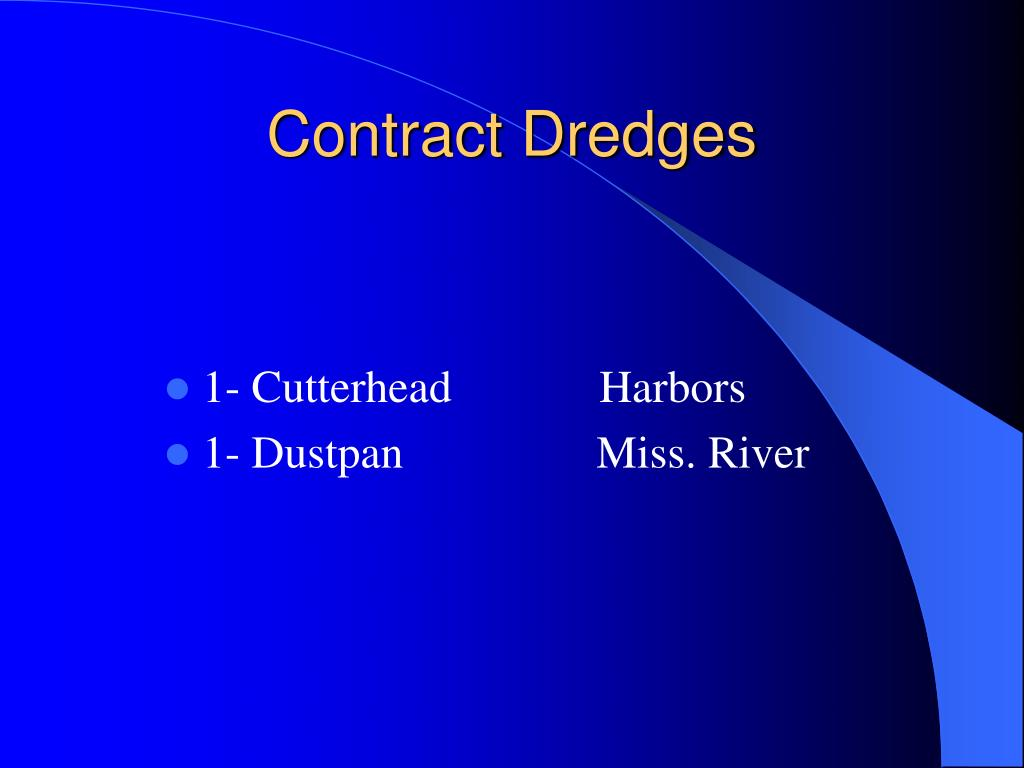 Contract Dredges