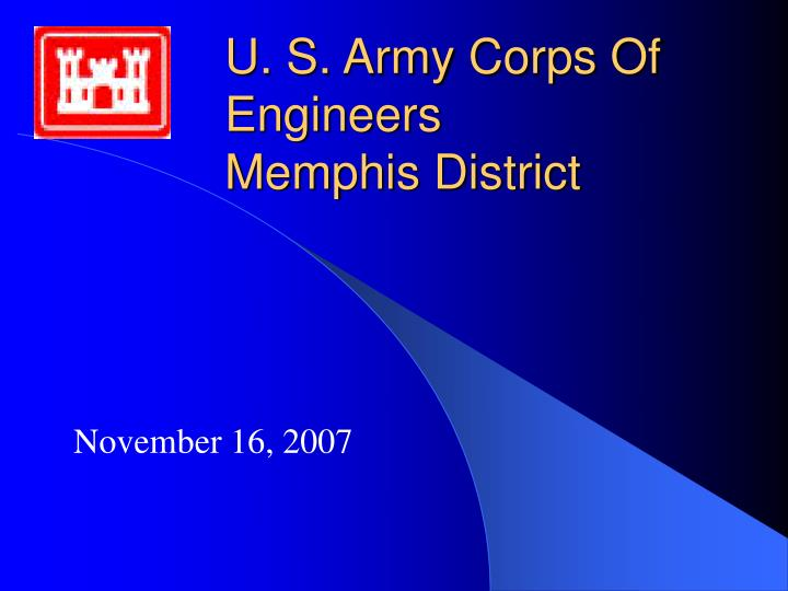 U s army corps of engineers memphis district