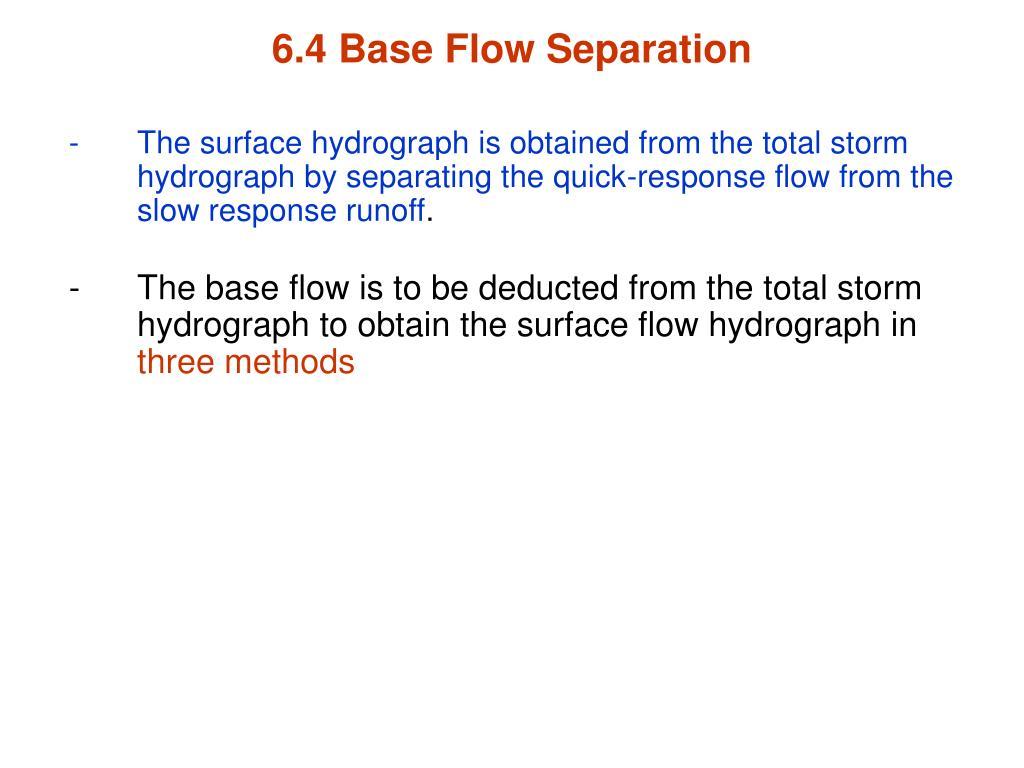6.4 Base Flow Separation