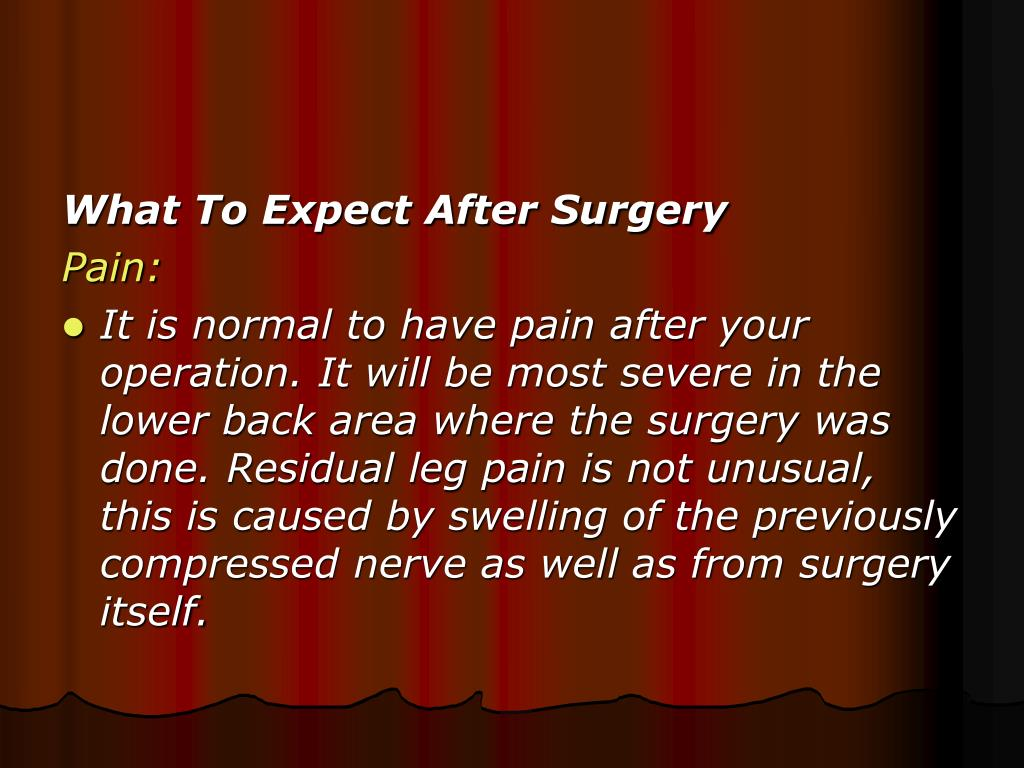 What To Expect After Surgery