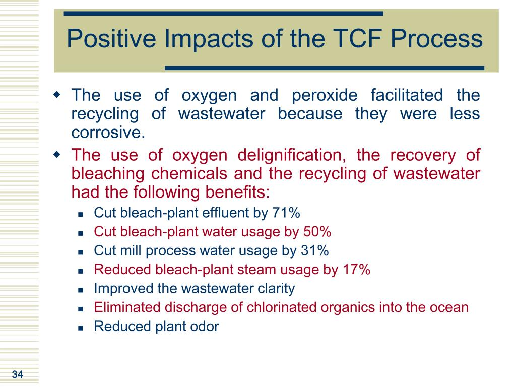 Positive Impacts of the TCF Process