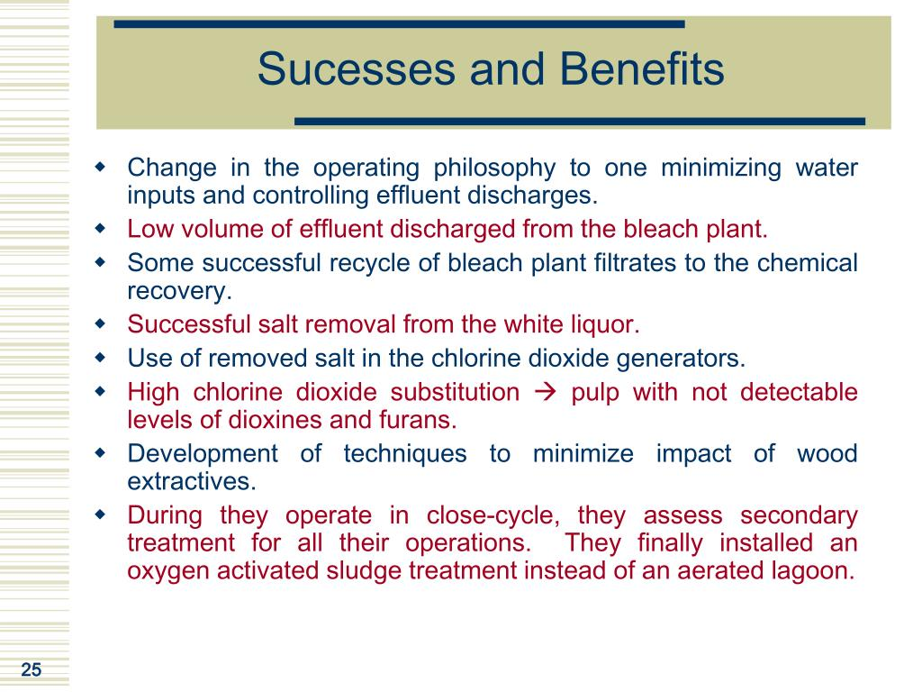 Sucesses and Benefits
