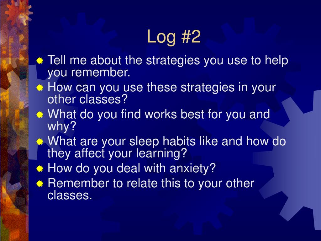 Log #2