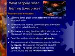 what happens when learning takes place