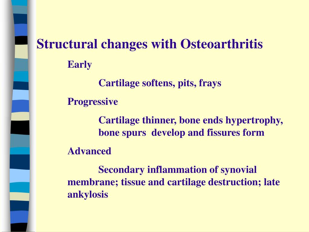 Structural changes with Osteoarthritis