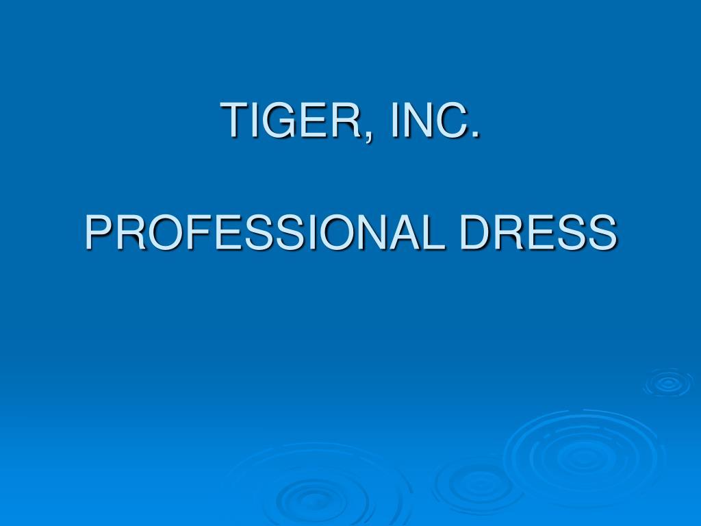 tiger inc professional dress l.