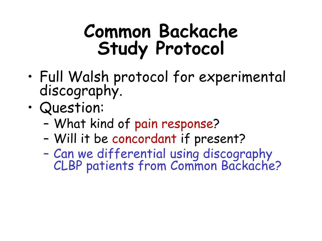Common Backache