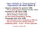 how reliable is concordancy experimental lbp model phase 3