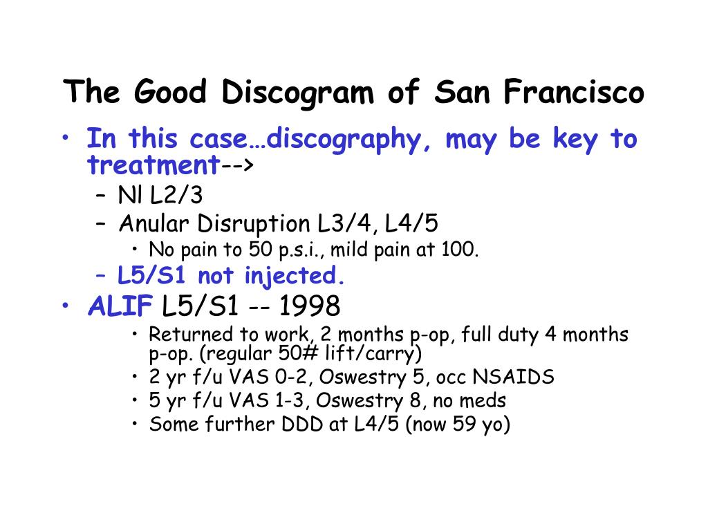 The Good Discogram of San Francisco