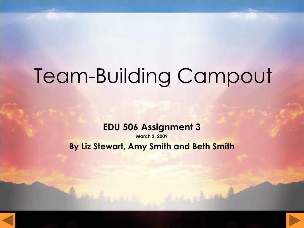 team building campout l.