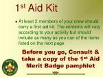 1 st aid kit