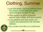 clothing summer