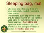 sleeping bag mat