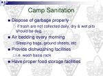 camp sanitation