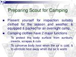 preparing scout for camping