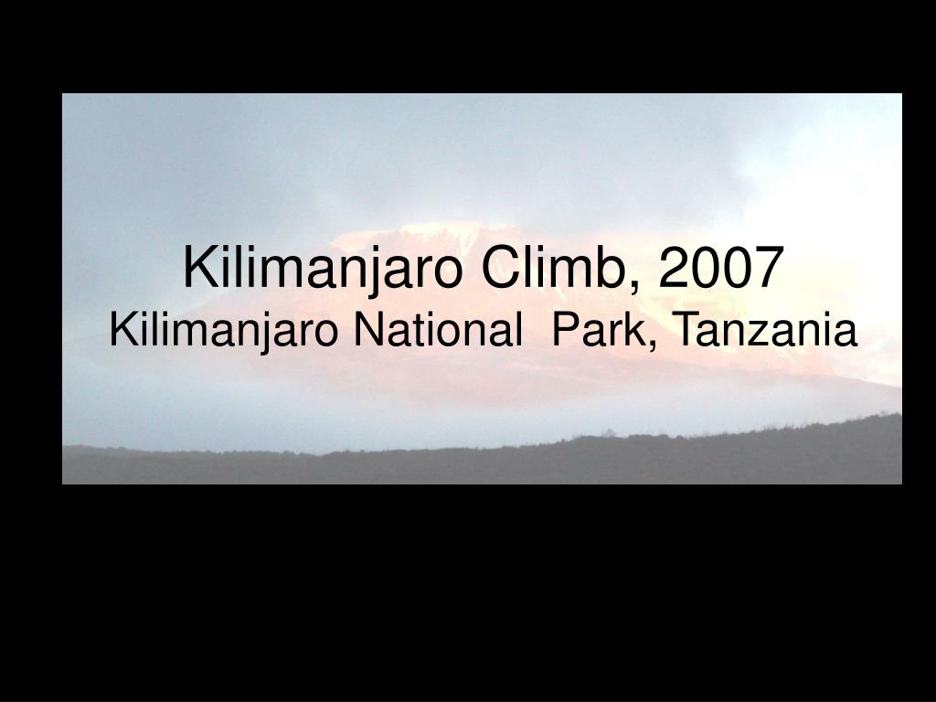 kilimanjaro climb 2007 kilimanjaro national park tanzania l.