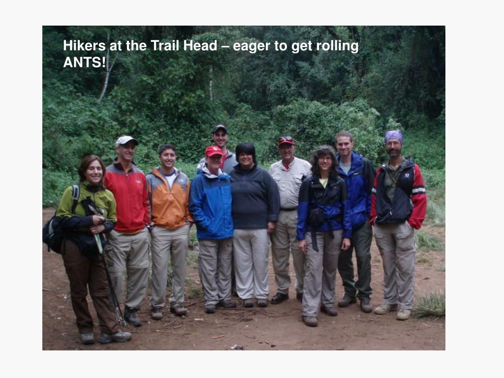 Hikers at the Trail Head – eager to get rolling