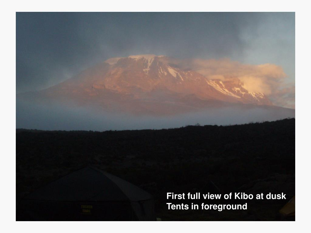 First full view of Kibo at dusk