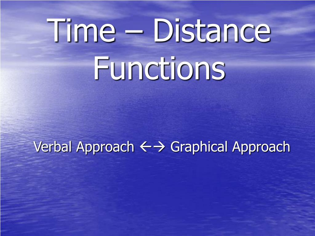 time distance functions l.