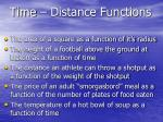 time distance functions2