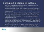eating out shopping in kista
